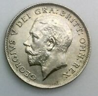 GREAT BRITAIN 1925  GEORGE V 6 PENCE SILVER S.4024    CHOICE COIN LUSTROUS
