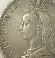 GREAT BRITAIN 1888  INVERTED 1 FOR I  ERROR DOUBLE FLORIN CIRCULATED