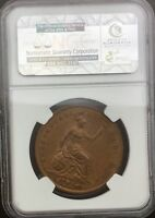 1853 ORNAMENTAL TRIDENT  PENNY NGC MS62 BROWN ORIGINAL CHOICE COIN