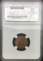 GREAT BRITAIN 1852 VICTORIA 1/2 FARTHING   NGC MS62 RED BROWN LIGHT TONE PRETTY