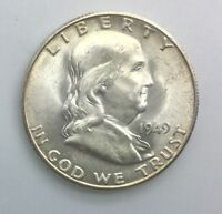 1949 S BETTER DATE  FRANKLIN HALF FLASHY LUSTROUS  COIN