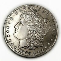 1PC VINTAGE STYLE 1896 MORGAN DOLLAR COIN COMMEMORATIVE COINS COLLECTION GIFTS