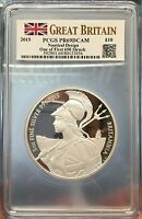 2015 UK BRITAIN 5OZ BRITANNIA SILVER PROOF PCGS PR69DCAM FIR