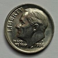 1984 P ONE DIME USA COIN ROOSEVELT COIN UNITED STATES OF AMERICA