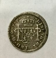 MEXICO 1781 MO FF CHARLES IIII  1/2 REAL SILVER COLONIAL COIN
