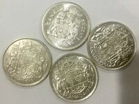 CANADA 4 COIN LOT OF NICE DIFFERENT   DATE  FIFTY  CENTS 1947 1953 LD 1954 1960