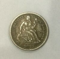 1875 P  DIME SOLID COIN PLEASING