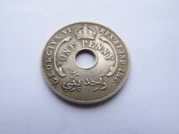 BRITISH WEST AFRICA 1P ONE PENNY COIN 1943