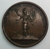 1675 FRANCE COPPER MEDAL LOUIS THE SUN KING  PRISE DE LIMBOURG BY MAUGER 33.2GM