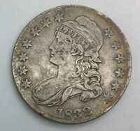 1832 BUST HALF DOLLAR  EARLY 50 CENTS PLEASING UNCLEANED  ORIGINAL COIN 2