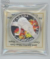 NEVER OPENED 2014 CANADIAN SILVER $20 COUGAR COLORIZED