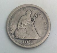 1875 S  20 CENTS  TYPE COIN  LOWER   GRADE EXAMPLE ISSUES