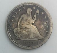 1839 EARLY SEATED QUARTER   TYPE COIN PLEASING LOWER  GRADE EXAMPLE