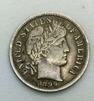 1899 P BARBER DIME NICE  COLLECTORS  COIN SHARP DETAILS