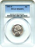 1951-S 5C PCGS MINT STATE 65 FS - JEFFERSON NICKEL