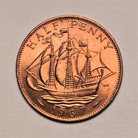 GREAT BRITAIN 1/2 PENNY 1967