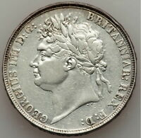 GREAT BRITAIN GEORGE IV CROWN 1821 KM680.1. SILVER COIN