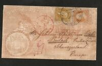 71 & 67 ON ONE PATRIOTIC COVER TO EUROPE WITH APS CERTIFICATE   LY