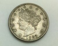 1883 NO CENTS FIRST  DATE   LIBERTY  NICKEL  PLEASING BETTER  GRADE COIN