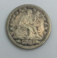 1853 ARROWS RAYS  SEATED LIBERTY QUARTER  NICE FOR TYPE SET B