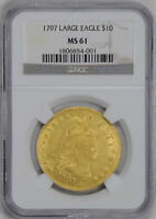 1797 DRAPED BUST $10 NGC MINT STATE 61