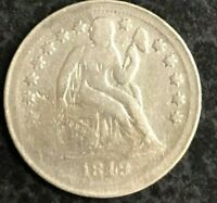1849-O SEATED LIBERTY DIME VF  DATE SEE PHOTOS C-1454