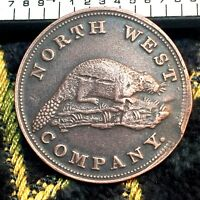 1820 TOKEN CANADA COIN NORTH WEST COMPANY THE BEAVER FUR TRA