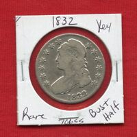 1832 CAPPED BUST SILVER HALF DOLLAR 70655  COIN  KEY DATE ESTATE