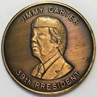 JIMMY CARTER 39TH U.S. PRESIDENT INAUGURATED JAN. 20 1977 COMMEMORATIVE MEDAL