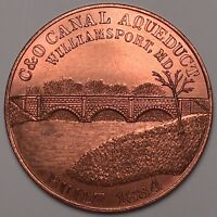 C & O CANAL AQUEDUCT BUILT 1834 WILLIAMSPORT MD COMMEMORATIVE COIN TOKEN MEDAL