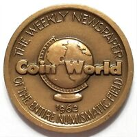1962 COIN WORLD CHARLOTTE NC BRANCH MINT 1835 61 COMMEMORATIVE SO CALLED DOLLAR