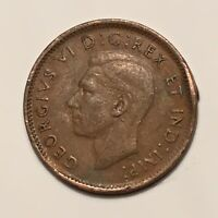 1945 1C BN CANADA CENT KING GEORGE VI