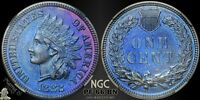 1882 1C NGC/CAC PF 66 BN PR PROOF INDIAN HEAD CENT PENNY US COIN BLUE TONING