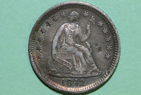 NET EXTRA FINE 1842 O DAMAGED / BENT LIBERTY SEATED SILVER HALF 1/2 DIME SHD575
