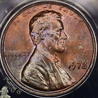 1972 DDO FS 101 MS 63 RB ANACS LINCOLN CENT MEMORIAL DOUBLED OBVERSE DIE 1 TONED