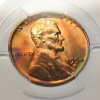 1954-D WHEAT CENT PCGS MINT STATE 66RB EOR TONED