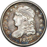 1833 CAPPED BUST HALF DIME VF /  FINE CLEANED 5C C38244
