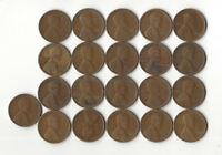 14. LOT OF 21 1925 S LINCOLN CENTS IN AS SHOWN AG-G CONDITION / G/F SET BUILDING