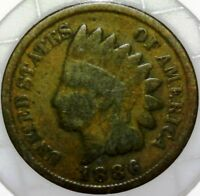 1886 INDIAN HEAD PENNY TYPE 2 OBVERSE FINE E010