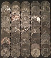 1943-S ROLL 50 LINCOLN CENTS//  CIRC/FAST SHIPS FREE WITH USPS TRACKING