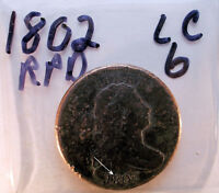 LARGE CENT 1802 DRAPED BUST RPD LC6
