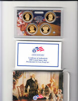2008 S PRESIDENTIAL DOLLAR PROOF SET 4 COINS W/BOX AND COA SHIPS FREE