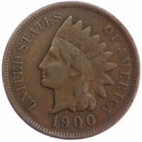 1900 INDIAN HEAD CENT  FINE PENNY VF