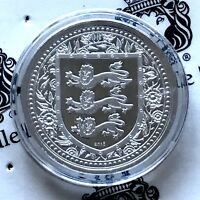 2018 GIBRALTAR ROYAL ARMS OF ENGLAND 1 OZ .999 SILVER LIMITED BU CAPSULED COIN