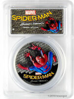 2017 $5 COOK ISLANDS SPIDER MAN HOMECOMING 1OZ .999 SILVER COIN PCGSPR69DCAM FD