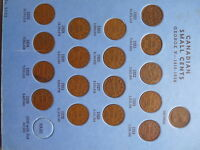 VINTAGE CANADA COLLECTION SMALL CENT  1920 TO 1972 ALL KEY D