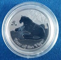 2010 AUSTRALIA YEAR OF THE TIGER 1/2 OUNCE .999 SILVER COIN