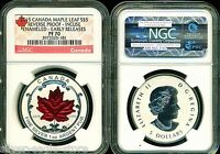 2015 $5 CANADA SILVER MAPLE LEAF NGC PF70 ER REVERSE PROOF I