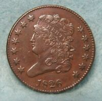 1826 CLASSIC HEAD HALF CENT XF   ROTATED REVERSE   US COIN