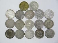 17  3 CENT SILVER 90  MIX DATE LOW GRADE U.S. MINT  TYPE COI